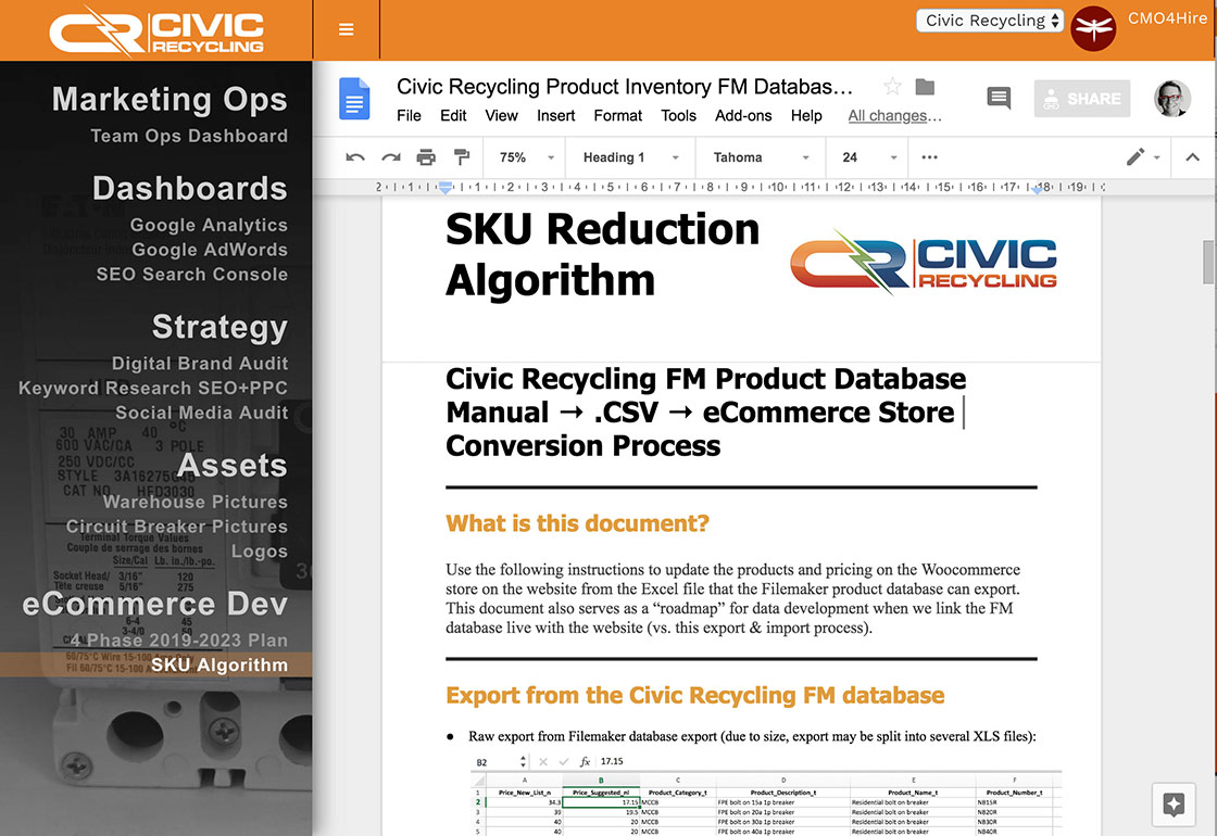 Google Docs screen shot G Suite DBMMS SuiteMenu