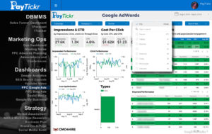 Google Adwords Data Studio Report screen shot G Suite DBMMS SuiteMenu